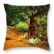 Garden Of The Lost Tribe Throw Pillow