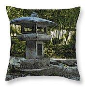 Garden Pagoda Throw Pillow