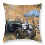 Garden Party With The Bentley Throw Pillow