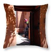 Garden Sculptures Museum Of Art In Santa Fe Nm Throw Pillow
