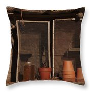 Garden Shelf Throw Pillow