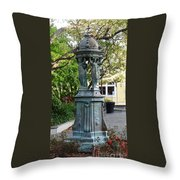 Garden Statuary In The French Quarter Throw Pillow