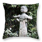 Garden Statuary Throw Pillow