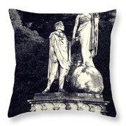Garden Statue At Villa Capri Throw Pillow