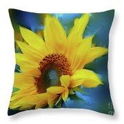 Garden Sun Throw Pillow