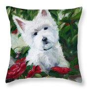 Garden Urn Throw Pillow