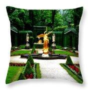 Gardens Of Linderhof Castle II Throw Pillow