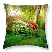 Gardens Of The Old Rectory Throw Pillow