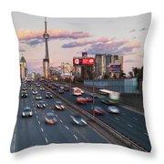 Gardiner Expressway Toronto Throw Pillow
