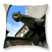 Gargoyle Of Saint Denis Throw Pillow