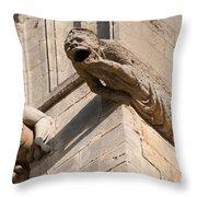 Gargoyles On Ely Cathedral Throw Pillow