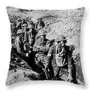 Gas Masks, World War I Throw Pillow by Photo Researchers