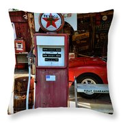 Gas Pump - Texaco Gas Globe Throw Pillow