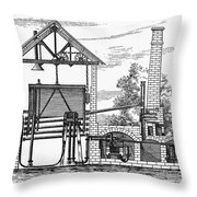 Gas Works, 1815 Throw Pillow
