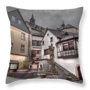Gasthaus And Church-colour Throw Pillow