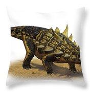 Gastonia Burgei, A Prehistoric Era Throw Pillow