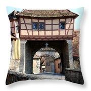 Gate House - Rothenburg Throw Pillow