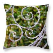 Gate Of Circles Throw Pillow