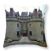 Gate To Chateau De La Bretesche Throw Pillow