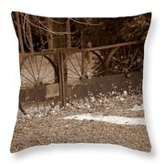 Gate To The Past Throw Pillow