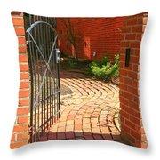 Gateway To A Garden Throw Pillow
