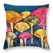 Gathering Of The Colors Throw Pillow