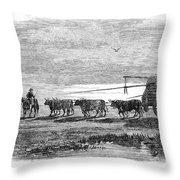 Gauchos, 1858 Throw Pillow