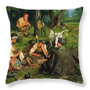 Gaul: Nearing The End Throw Pillow