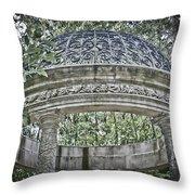 Gazebo At Longwood Gardens Throw Pillow