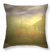 Gazebo Rain Throw Pillow