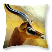 Gazelle Throw Pillow by Karen Wiles