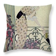 Gazette Du Bon Ton Throw Pillow