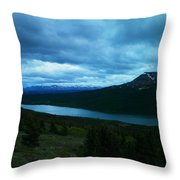 Gazing East Two Medicine  Throw Pillow