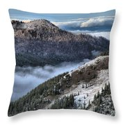 Gazing Over The Pacific Throw Pillow