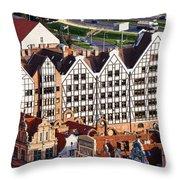 Gdansk Granaries Throw Pillow