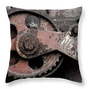 Gear Wheel Throw Pillow