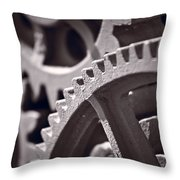 Gears Number 3 Throw Pillow