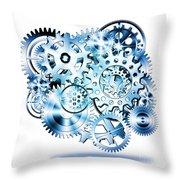 Gears Wheels Design  Throw Pillow