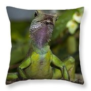 Gecko Leopard Throw Pillow
