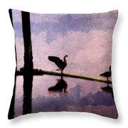 Geese At Dawn Throw Pillow