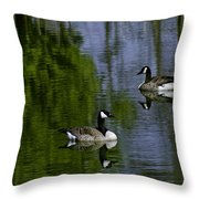 Geese On The Pond Throw Pillow