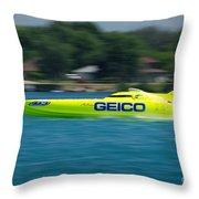 Geico Offshore Racer Throw Pillow