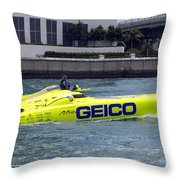 Geico Race Boat Throw Pillow