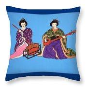 Geisha Serenade Throw Pillow