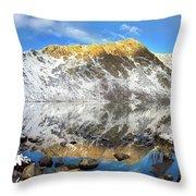 Geissler Mountain In Linkins Lake Throw Pillow