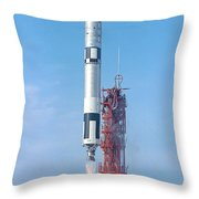 Gemini Vi Lifts Off From Its Launch Pad Throw Pillow