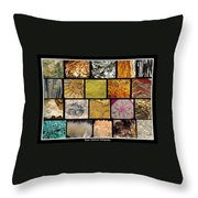 Gemstones And More Collage Throw Pillow