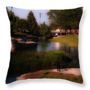 Gene Leahy Mall In Full Glory Throw Pillow