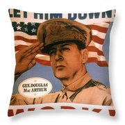 General Douglas Macarthur Throw Pillow