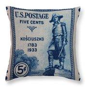 General Kosciuszko Postage Stamp Throw Pillow